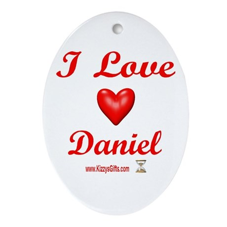 I LOVE DANIEL Oval Ornament