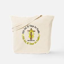 With God Cross SARCOMA Tote Bag
