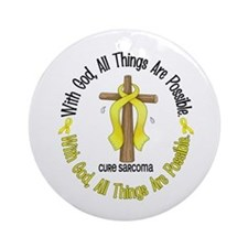 With God Cross SARCOMA Ornament (Round)