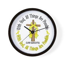 With God Cross SARCOMA Wall Clock