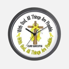 With God Cross SARCOMA Wall Clock