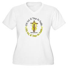 With God Cross SARCOMA T-Shirt