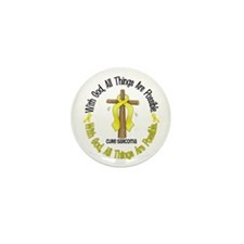 With God Cross SARCOMA Mini Button (10 pack)