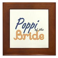 Poppi of the Bride Framed Tile