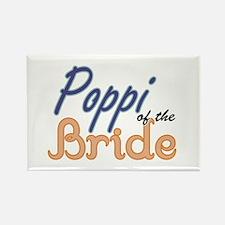 Poppi of the Bride Rectangle Magnet (10 pack)