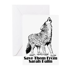 Sarah's Wolves Greeting Cards (Pk of 10)