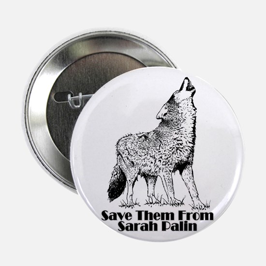 "Sarah's Wolves 2.25"" Button"