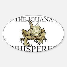 The Iguana Whisperer Oval Decal