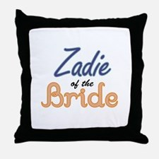 Zadie of the Bride Throw Pillow