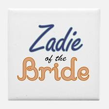 Zadie of the Bride Tile Coaster