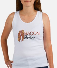 """Bacon is the Answer"" Women's Tank Top"