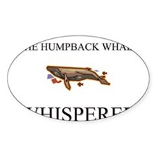 The Humpback Whale Whisperer Oval Decal