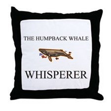 The Humpback Whale Whisperer Throw Pillow