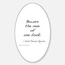Aquinas on Books Oval Decal