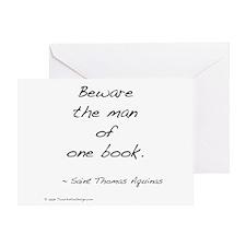 Aquinas on Books Greeting Card