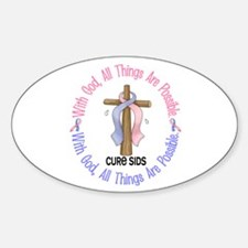 With God Cross SIDS Oval Decal