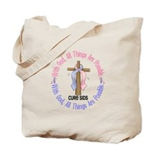 With God Cross SIDS Tote Bag