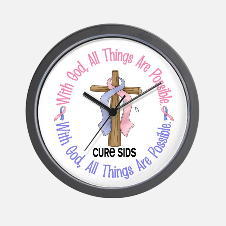 With God Cross SIDS Wall Clock