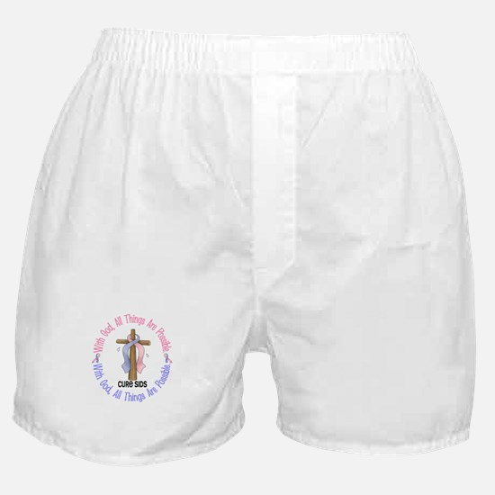 With God Cross SIDS Boxer Shorts