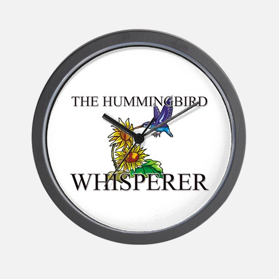 The Hummingbird Whisperer Wall Clock