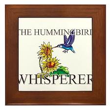 The Hummingbird Whisperer Framed Tile