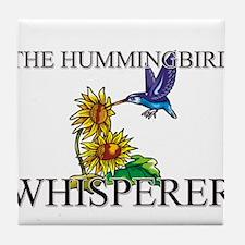 The Hummingbird Whisperer Tile Coaster