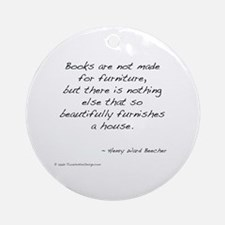 Beecher on Books II Ornament (Round)