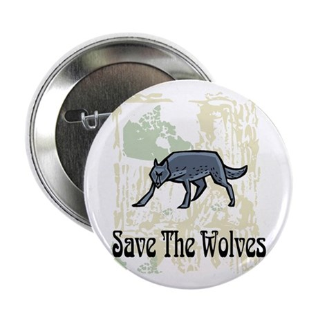 """Save The Wolves 2.25"""" Button"""