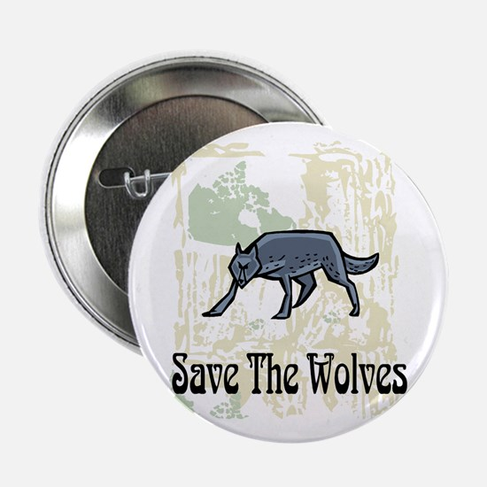 "Save The Wolves 2.25"" Button"
