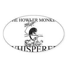 The Howler Monkey Whisperer Oval Decal