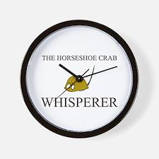 The Horseshoe Crab Whisperer Wall Clock