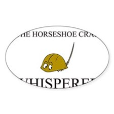 The Horseshoe Crab Whisperer Oval Decal