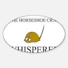 The Horseshoe Crab Whisperer Oval Decal
