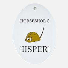 The Horseshoe Crab Whisperer Oval Ornament