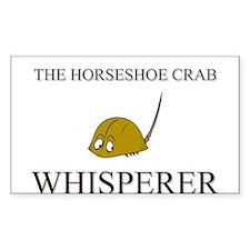 The Horseshoe Crab Whisperer Rectangle Decal