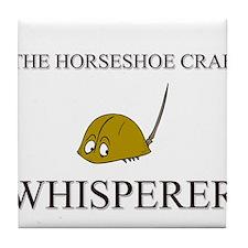 The Horseshoe Crab Whisperer Tile Coaster