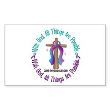 With God THYROID CANCER Rectangle Decal