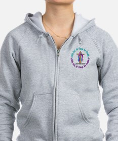 With God THYROID CANCER Zip Hoodie