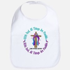 With God THYROID CANCER Bib