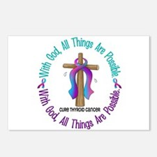 With God THYROID CANCER Postcards (Package of 8)