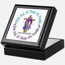 With God THYROID CANCER Keepsake Box
