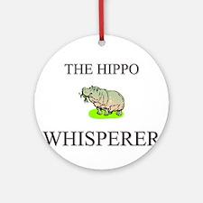 The Hippo Whisperer Ornament (Round)
