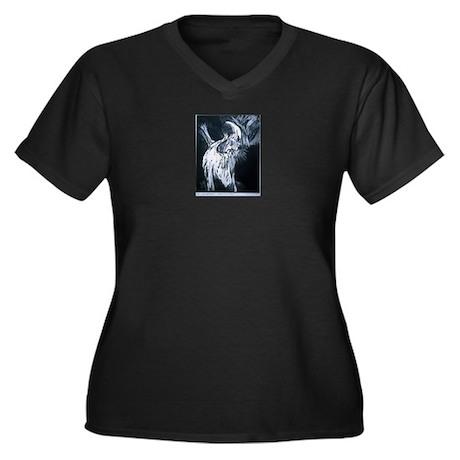 Ash Wednesday Women's Plus Size V-Neck Dark T-Shir