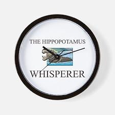 The Hippopotamus Whisperer Wall Clock