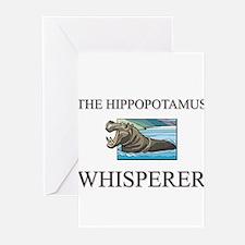 The Hippopotamus Whisperer Greeting Cards (Pk of 1