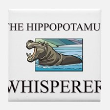The Hippopotamus Whisperer Tile Coaster