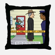 """""""Open and Shut Case"""" Throw Pillow"""