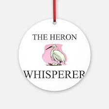 The Heron Whisperer Ornament (Round)