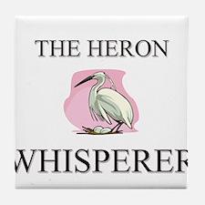 The Heron Whisperer Tile Coaster