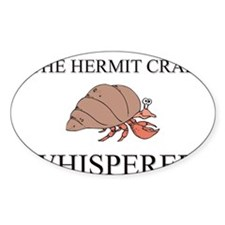 The Hermit Crab Whisperer Oval Decal